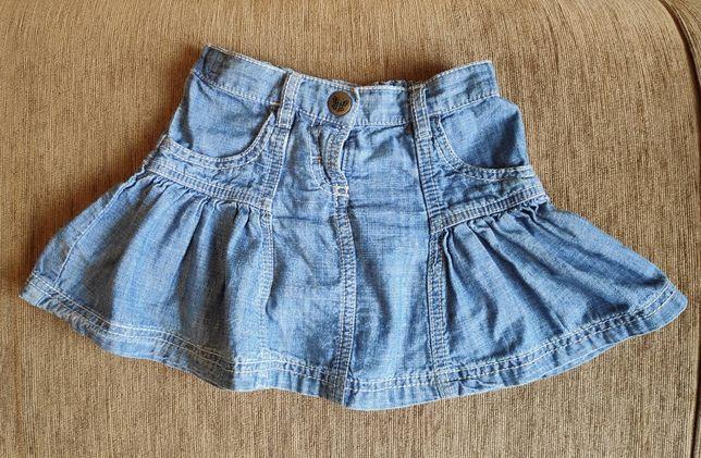Детская джинсовая юбка 1,5-2 года, Рост 92 см. Отличное состояние