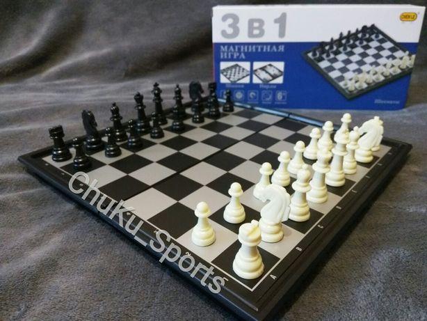 Шахматы Нарды Шашки 3в1 8188-10 Карты 4в1 8188-12 8188-11 магнитные