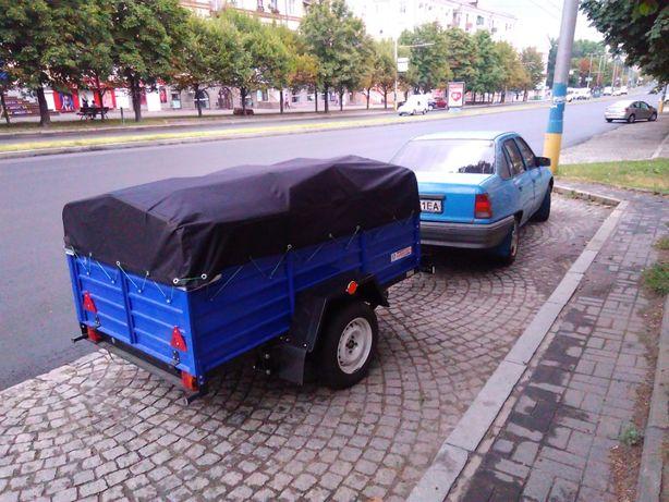 Грузоперевозки легковым авто с прицепом