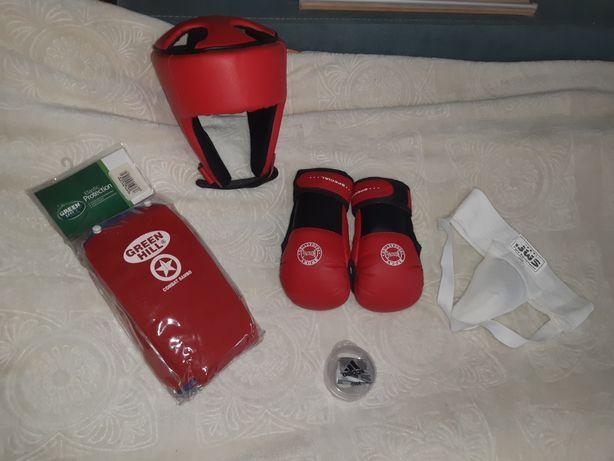 Самбо бокс  шлем, защита, капа, пах, перчатки