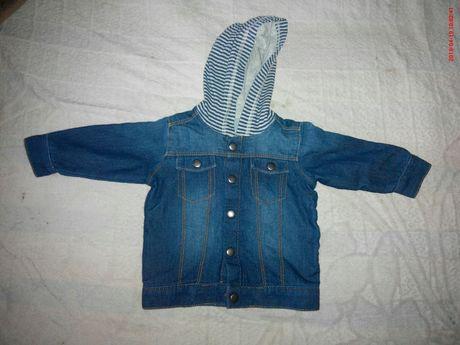 пиджачок легкий джинс на мальчика 3-6 мес