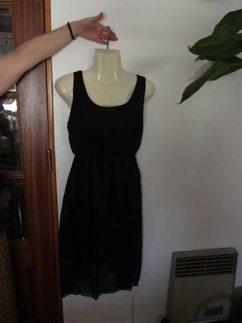 Vestido comprido de Senhora cor preta