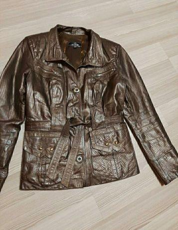 Натуральная кожаная куртка курточка пиджак, р. 38/m (укр 46).