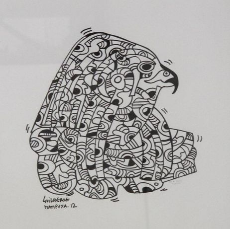 Guilherme Mampuya - Original - Caneta preta sobre papel