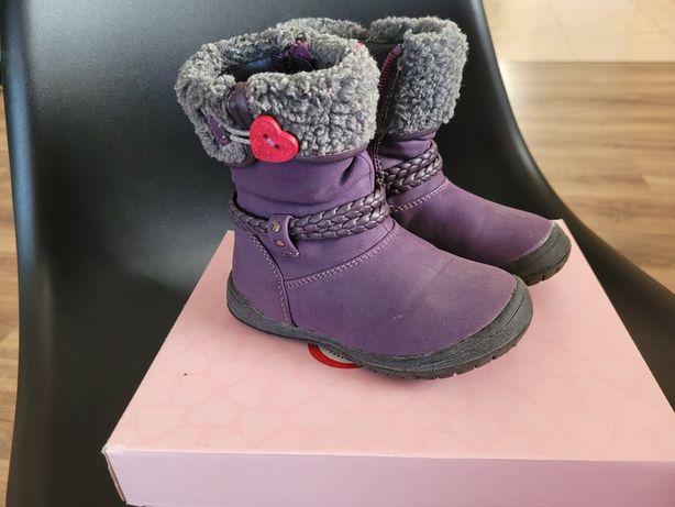 Kozaki dla dziewczynki, buty zimowe, buty na śnieg