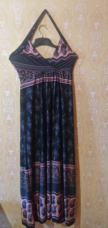 Красивое, летнее, длинное платье! 50!
