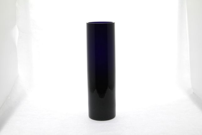 Wazon szklany kobaltowy wysokość 27,5cm PRL vintage New LOOK