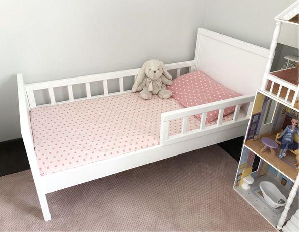Дубове дитяче ліжко з матрасом, детская кровать и матрас 140*70
