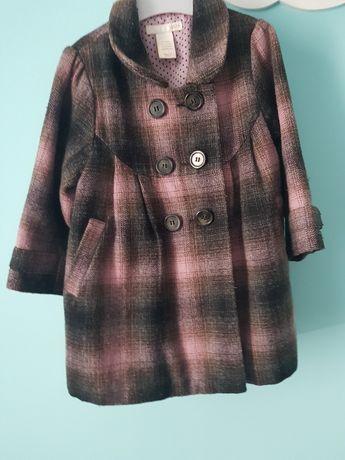 Płaszcz płaszczyk w kratę hm h&m 80 86 92