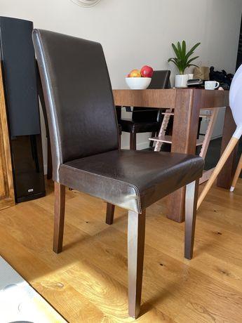 Komplet krzeseł ekoskóra 4 krzesła bardzo wygodne