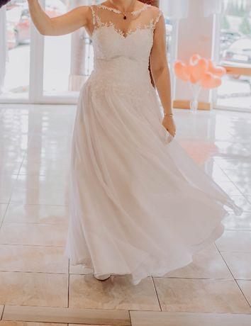 Suknia ślubna, piękna i subtelna