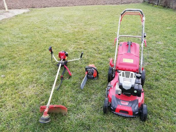 Koszenie wertykulacja i aeracja trawnikow koszenie zarośli, glebogryza