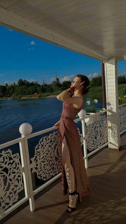 Платье вечернее выпускное, надевалось 1 раз. На рост~162 см