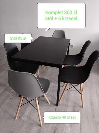 Stół IKEA i krzesła kubełkowe