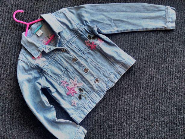 NEXT jeansowa kurtka 7/8 lat 128cm hafty katana