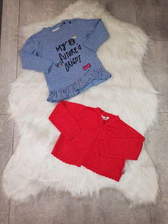 COCCODRILLO Tunika / bluzeczka oraz sweterek, r. 86