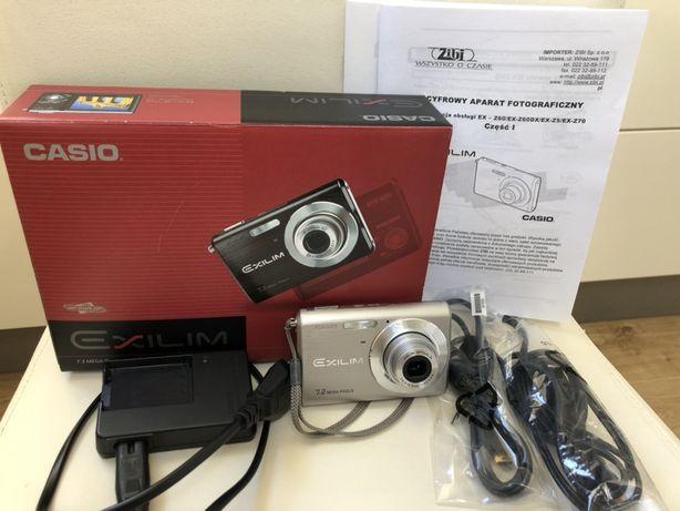 Aparat foto Casio EX-Z70 7,2Mpx cały zestaw