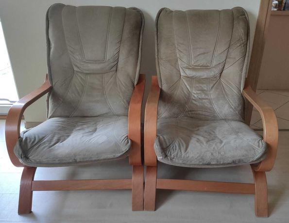 Dwa fotele - złamana przednia belka siedziska