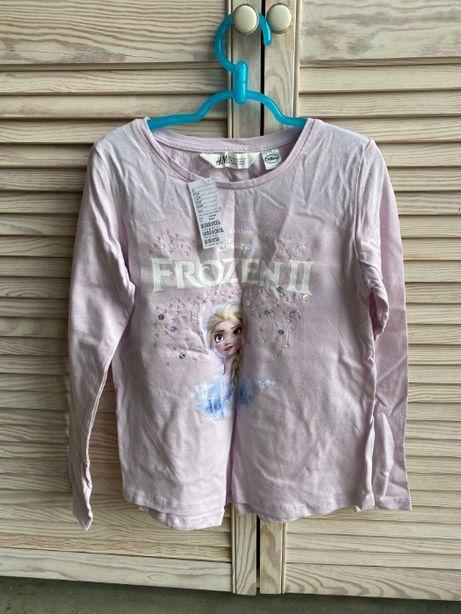 NOWA bluzka Elsa Elza Frozen II Kraina Lodu 8-10 lat cekiny