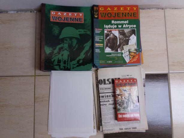 Gazety wojenne 1-40 + reprinty + plalaty + kaseta