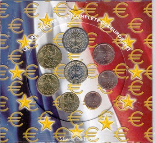 Carteira de moedas euro serie anual França BNC 2003