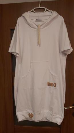 Sukienka z kapturem biała Migaloo
