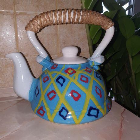 Чайник ручная роспись 1л