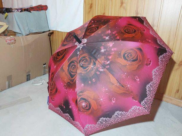 Parasol na kiju kratka roze lub gladkie