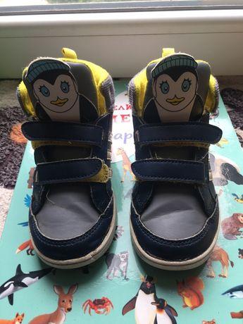 Детские кроссовки хайтопы adidas оригинальные 26 размер