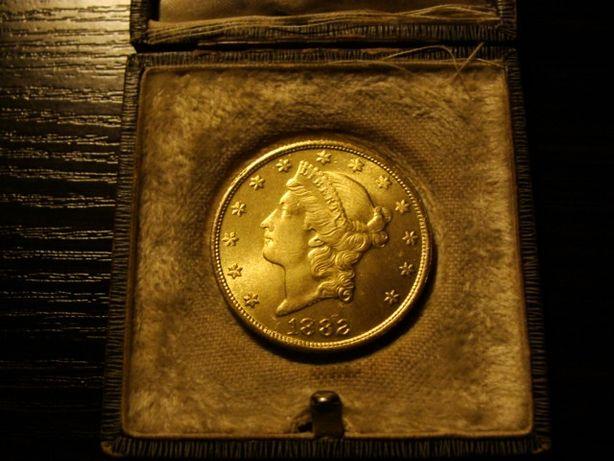 Złota USA Ameryka 20 Dollars Dolarów Liberty moneta 1882