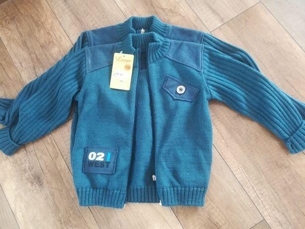 Sweterek rozpinany rozmiar 116