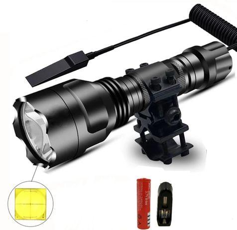 Lanterna Led T6 500LM com adaptador para fixação interruptor com cabo