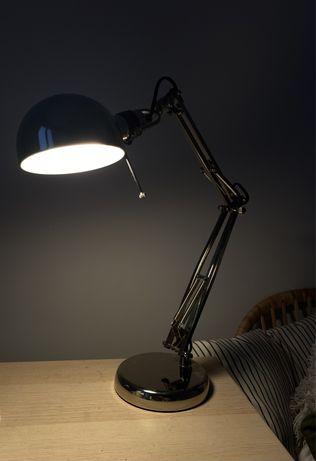 srebrna lampka vintage