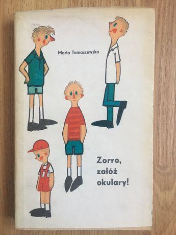 Zorro załóż okulary Marta Tomaszewska książka dla dzieci bajka powieść