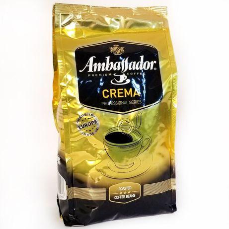 Кава в зернах Ambassador Crema зерно 1кг. Ambassador Сremer ,Chocolat