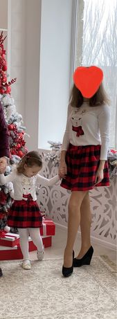 Новогодний Фэмили лук мама и дочка Family look
