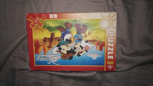 Puzzle 60 kawałków myszka Miki dziki zachód