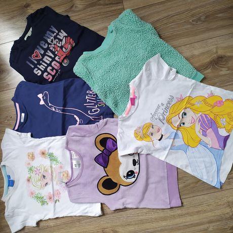 Bluzeczki H&M, Reserved, Disney, Carter's 110-116, 5-6 lat komplet
