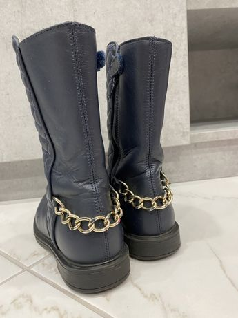 Сапоги ботинки кожаные детские италия