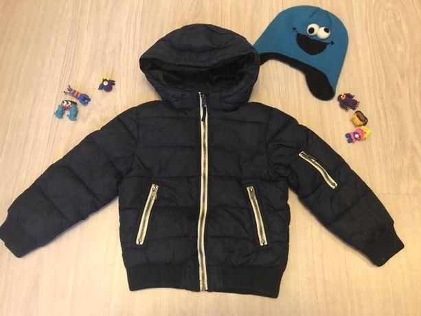 Зимняя куртка Н&М на мальчика 5-6 лет рост 116 см Шапка в подарок