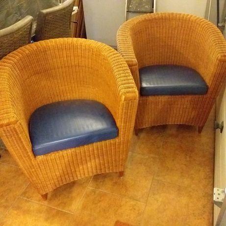 2 fotele wiklinowe