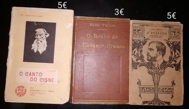 Livros Daniel Sampaio,Mark Twain,Eça de Queiroz,Lídia Jorge,Humberto D