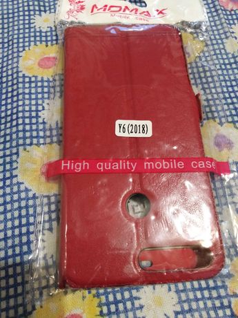 Чехол-книжка МОМАХ для телефона Huawei Y6 2018 /Y6 Prime Red