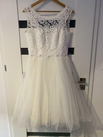 Biała sukienka ślubna/ poprawinowa