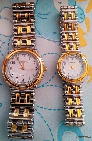 Conjunto Relógios Geneva Novos