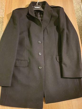 Męski płaszcz czarny przejściowy