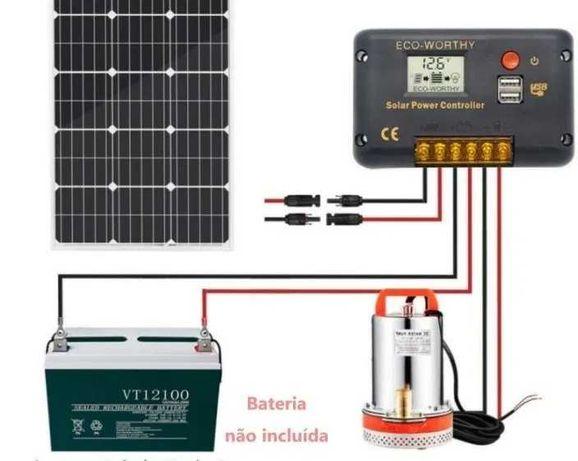 KIT Bomba solar 12V para poço. (Kit 2)