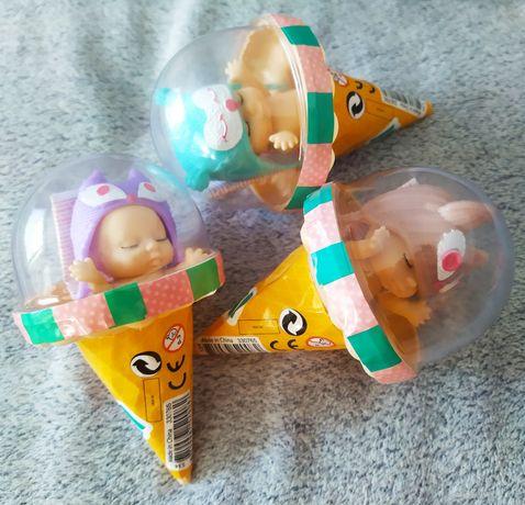 Zestaw nowych laleczek w kolorowych czaplach, ice cream doll