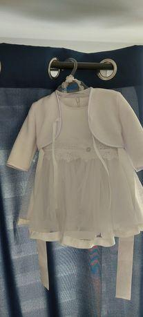 Sukienka na chrzest 68cm