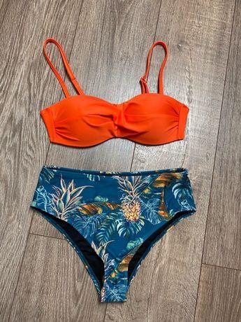 Bikini egzotyczne wzory usztywniane S strój kąpielowy